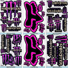 pink large monster energy claws sticker decal raciraci etsy