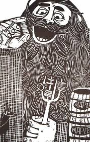 paul bunyan eating flapjacks mlkshk relief prints pinterest