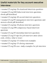 Executive Resumes Samples by Top 8 Key Account Executive Resume Samples
