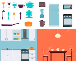 cuisine equipement set cuisine équipement et les ustensiles vector illustration clip