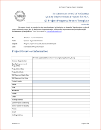 Construction Progress Report Template Free by 6 Project Progress Report Template Bookletemplate Org
