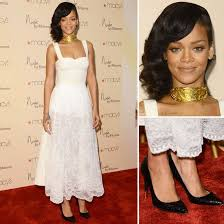 rihanna shows off her softer side in sheer white lace tom ford