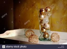 ornaments in glass vase stock photo royalty free image 3686246