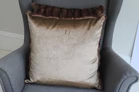 Cushions Velvet Champagne Vintage Fur U0026 Velvet Large Cushion Philippa London