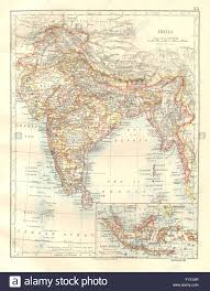 Map Nepal India by British India Burma Nepal Bhutan Ceylon East Indies Johnston