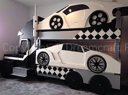 Race Car Bunk Beds Bunk Beds Car Bunk Bed With Slide Awesome Furniture