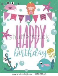 happy birthday greeting invitation card template stock vector