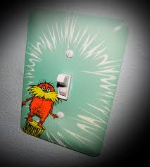 custom dr seuss lightswitch and outlet covers match your nursery