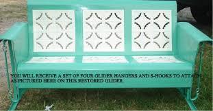 retro vintage metal porch glider parts