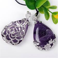 natural amethyst necklace images Amethyst crystal rings necklaces and earrings atperry 39 s shop jpg