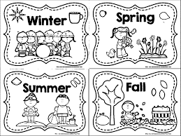 winter spring summer fall coloring page wecoloringpage throughout