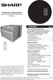 sharp portable air conditioner service manual air conditioner