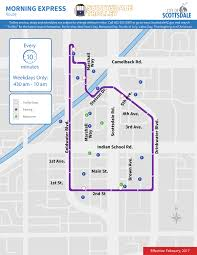 Map Of Phoenix Airport by City Of Scottsdale Trolley