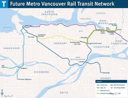 Map Vancouver Canada by New Skytrain Routes Millennium Line Will No Longer Run To
