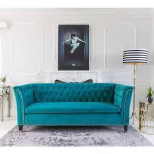 imperial blue velvet sofa luxurious statement sofa