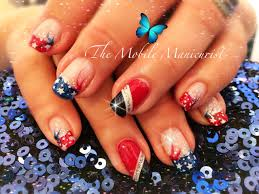 memorial day nails patriotic nails red white and blue nails