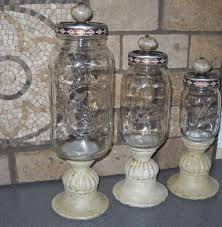 reduced mason jar kitchen canister set 3 piece 36 00 via etsy
