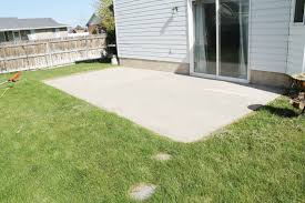 Patio Paint Concrete by How To Stain A Concrete Patio Chris Loves Julia
