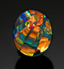 Opal Teh cathedral window opal fires up 86 500 antique trader