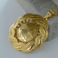 necklace pendant coin images Anniyo coin necklace pendant napoleon gold color arab coins jpg