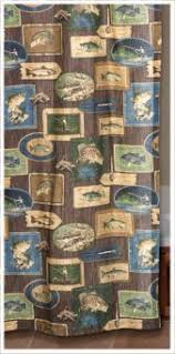 Shower Curtains With Fish Theme Fisherman U0027s Wooden Toilet Paper Reel Bathroom Fishing