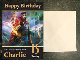 dr doctor strange birthday card personalised a5 large any name