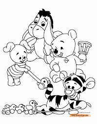 baby pooh bear coloring pages aecost net aecost net