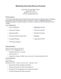 Resume For Marketing Job marketing intern resume berathen com