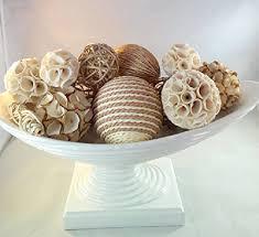 Decorative Spheres For Bowls Decorative Spheres Creamy White Rattan Vase Filler White Bowl