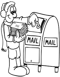 coloring page mailing cards