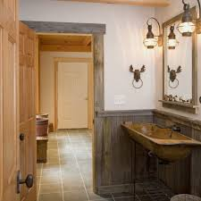 rustic bathroom ideas pictures wall mounted green cabinet washbasin two storage panel doors