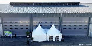 large garage hangar door