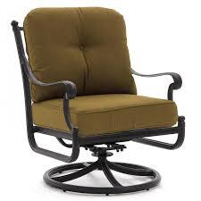 Swivel Rocker Patio Chair by Evangeline Cast Aluminum Swivel Rocker Patio Club Chair By