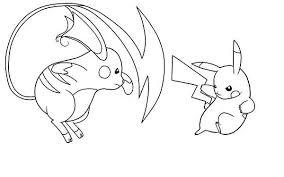 pokemon color pages pikachu pikachu vs raichu coloring page pikachu vs raichu coloring page