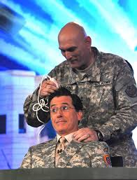 salute to servicemembers comedian stephen colbert inspires troops