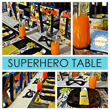 Batman Table Decorations Kid U0027s Birthday Party Ideas Fit For A Superhero U2014 Child Mode Put
