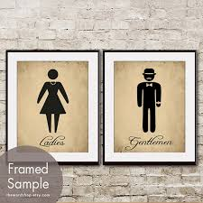 bathroom artwork ideas and gentlemen set of 2 11x14 prints featured in
