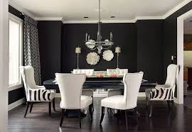 Luxury Black White Dining Table Chairs Modern Glass Top With - White and black dining table