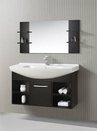 48 inch single sink floating vanity with mirror 55 inch bathroom