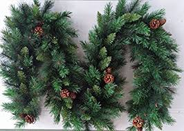 best artificial 9ft 2 7m luxury garland with 16 pine