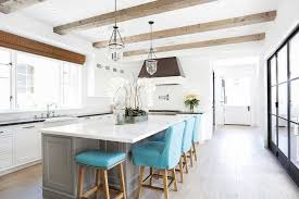 counter stools for kitchen island gray kitchen island with turquoise blue counter stools