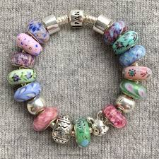 pink glass bead bracelet images Fenton glass jewelry beauty in bloom marthnickbeads jpg