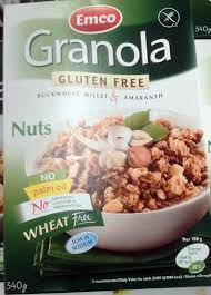 amarante cuisine granola sans gluten sarrasin millet amarante aux noix emco