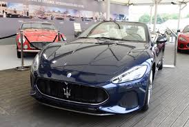 maserati gray maserati updates grancabrio for 2018 at goodwood fos autoevolution