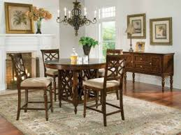 round counter height table set standard furniture woodmont round counter height table set in cherry