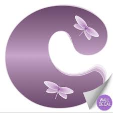 Dragonfly Nursery Decor Wall Letter Alphabet Initial Sticker Vinyl Stickers Decals Name