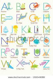 themed letters colorful theme alphabet letters description stock vector