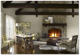 Paint Colours For Home Interiors Paint Ideas For Living Room With Stone Fireplace Home Design Ideas