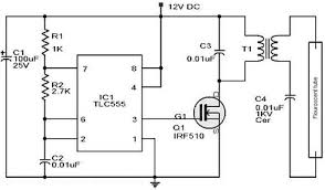 free circuit diagrams emergency light 555