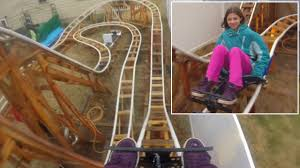 see roller coasters set up in people u0027s private backyards youtube